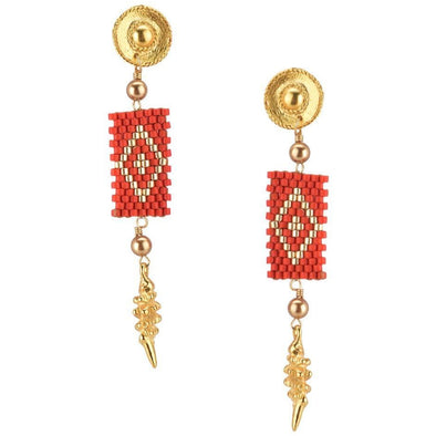 Rombo Beaded Earrings