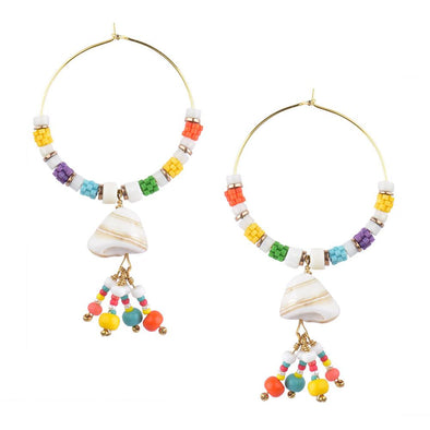 Cancun Shell Drop Earrings