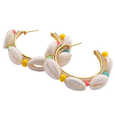 Hoop Earrings Conchitas Shell
