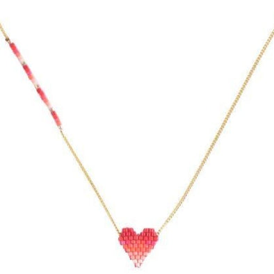 Heartsy Beaded Necklace