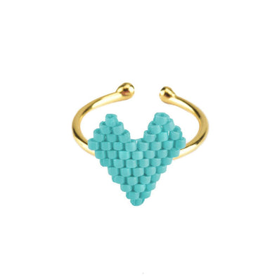 Heart  Beaded Ring