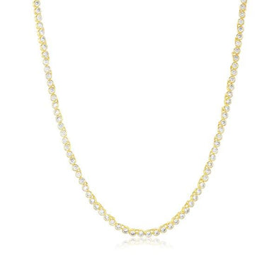 Baby Baroness Necklace Gold White Simulated Diamonds