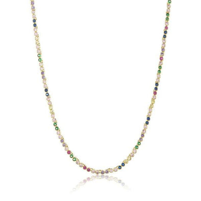 Baby Baroness Necklace Gold Rainbow