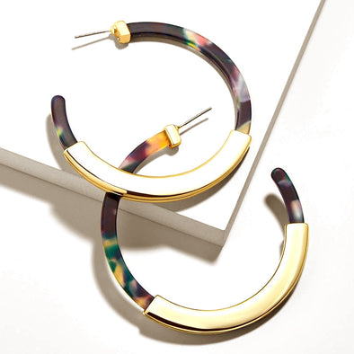 Astrid Hoops Gold Plated