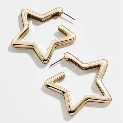 Annie Star Earrings Gold Plated