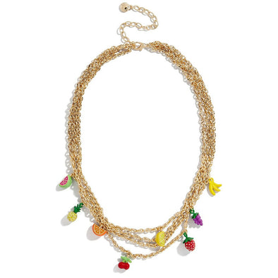 Tutti Frutti Layered Nechlace Gold Plated