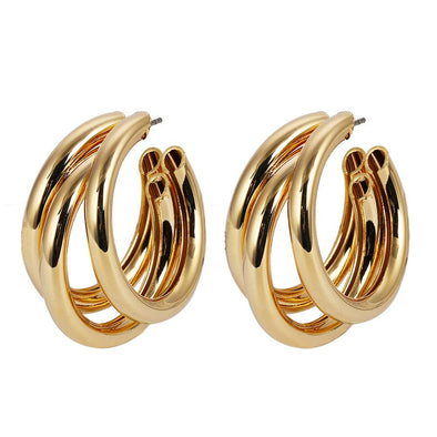 Annalisa Triple Hoops Gold Plated