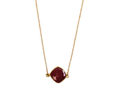 Collier Chaine New Precieuse Quartz Rubis