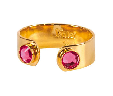Bague Crystal Eternity Indian Pink