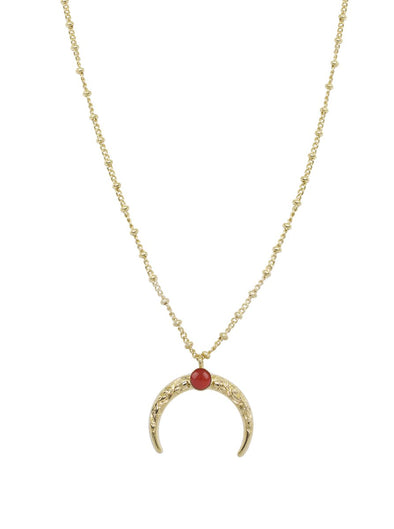 Collier Lune Arabesque Cornaline