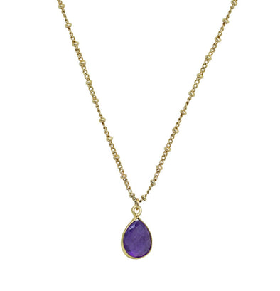 Collier Color Stones Chaine Amethyste