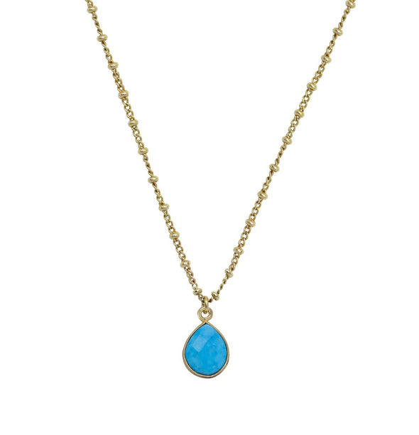 Collier Color Stones Chaine Turquoise