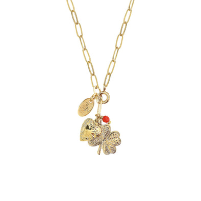 Scarlett Long Necklace 2 in 1 Heart/Clover