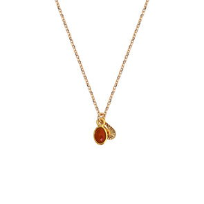 Collier Gaia Agate Rouge