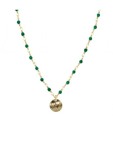 Mini Stones Necklace Emerald