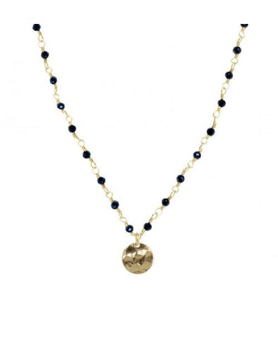 Mini Stones Necklace Black
