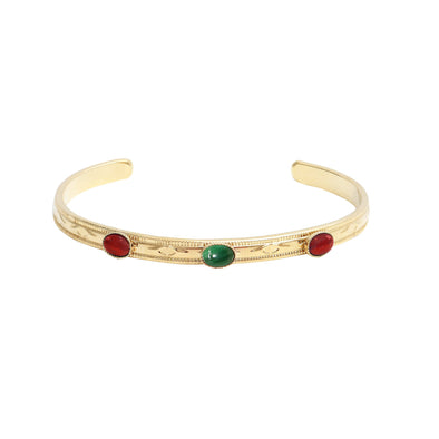 Thais Bangle Agate Verte