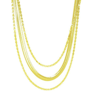 Necklace Supreme Mixed Chain Layered Gold Plated