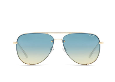 High Key Rimless Gld/Bluturq