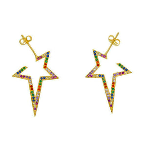 Multi Star Earrings