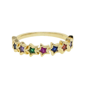 Colored Stars Ring