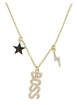Boss Lucky Charms Necklace 18K Gold Plated