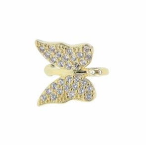 Gold Butterfly Clip Single Earring 18K Gold Plated