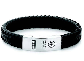 R&R Bracelet - Braided Flat Black