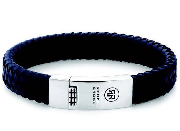 R&R Bracelet - Braided Flat Blue
