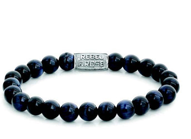 R&R Bracelet - Tiger Blues - 8Mm