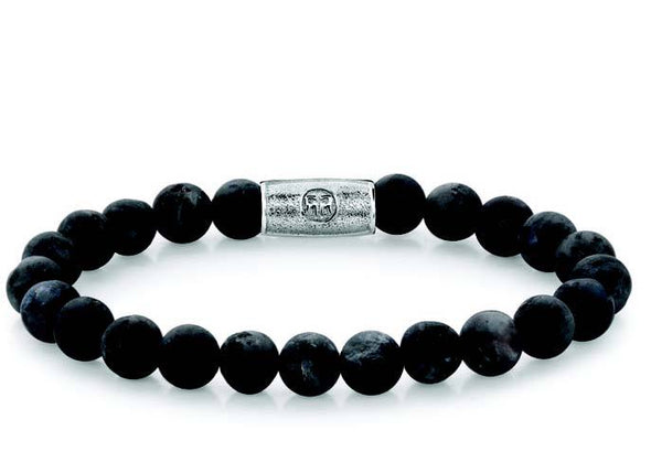 R&R Bracelet -  Matt Grey Seduction - 8Mm M (17,5C