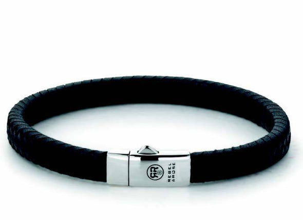 R&R Bracelet -  Small Braided Black M (19,5Cm)