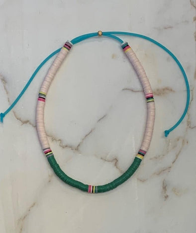 Surfer Choker Beige Green