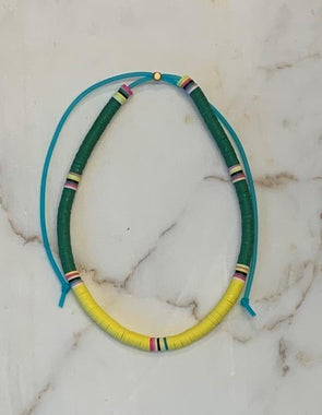 Surfer Choker Green Yellow