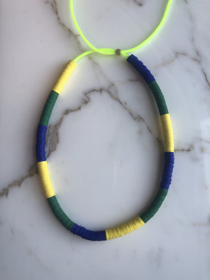 Surfer Choker Block Blue Green Yell
