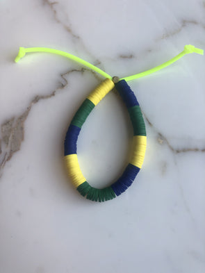 Tribe Color Mix Bracelet Block Green Blue Yell