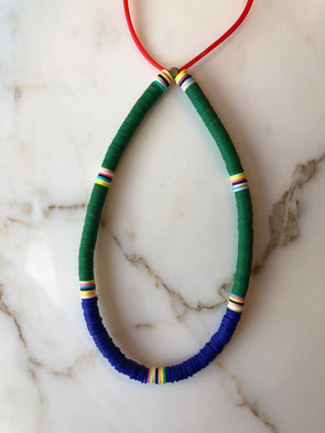 Surfer Choker Black Green R. Blue