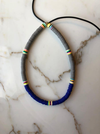 Surfer Choker Black Grey R. Blue