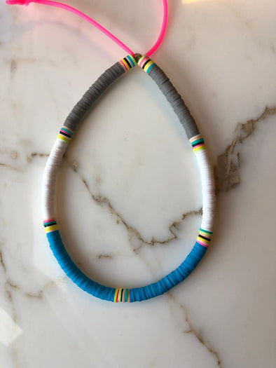 Surfer Choker Grey White Blue