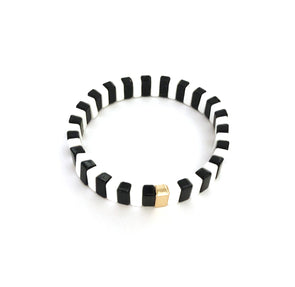 Candy Stripe Bracelet Black