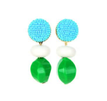 Dragipop Green Blue Earrings