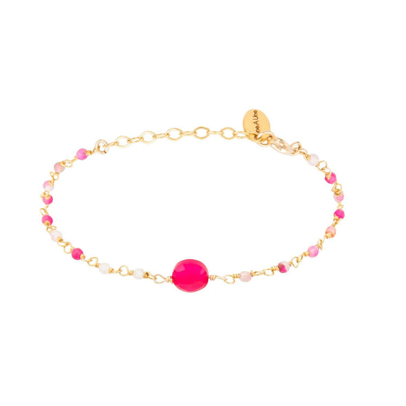 Bracelet Inde 1 Pierre Fushia - Indian Chain Brass