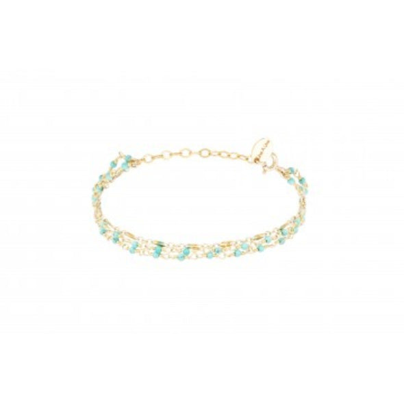 Bracelet Inde Multi Turquoise - Indian Chain  Bras