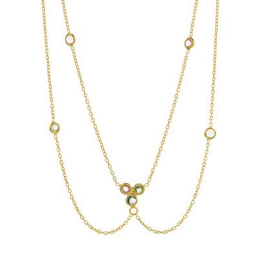 Collier Double Finesse Tourma -