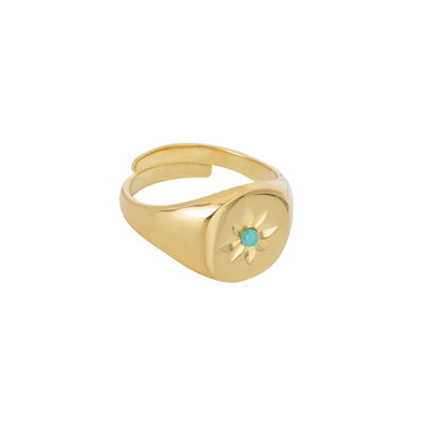 Bague Chevaliere Turquoise