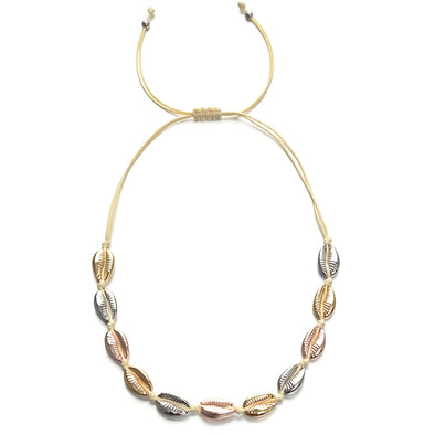 Necklace Metallic Shell
