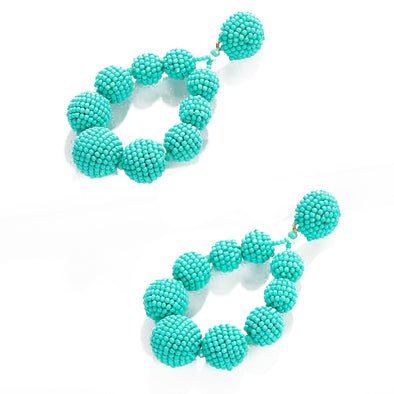 Abigail Statement Earrings Turquoise