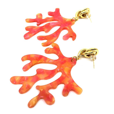 Statement Coral Earrings