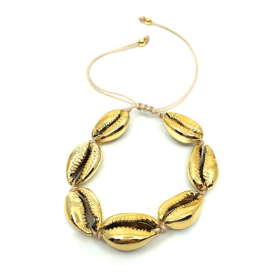Cowrie Shell Anklet All Gold