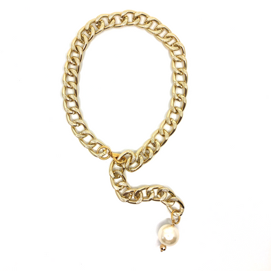 Necklace Rock With You Chain Gold Plated 53 cm